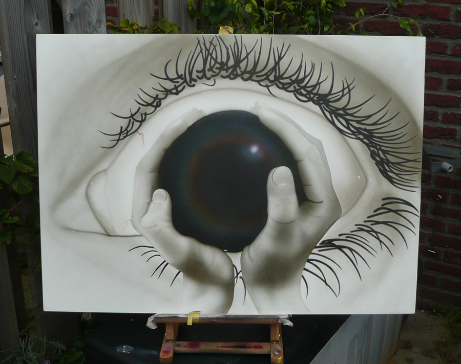the eye schilderij