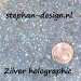Metal flakes zilver ster holographic