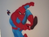 spiderman muurtekening