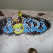 Graffiti muurtekening door AirbrushArt4U