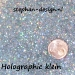 Metal flakes holographic glitters klein